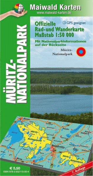 Müritz-Nationalpark - mit Nationalparkinformationen - Rad- und Wanderkarte